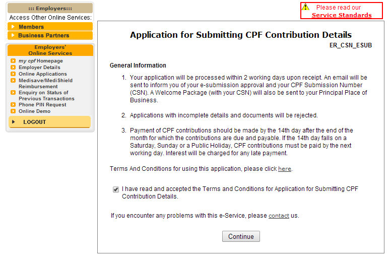 Submitting CPF Contribution Details
